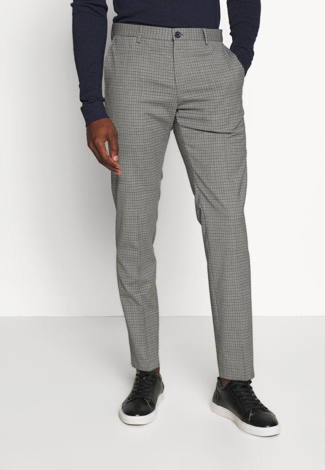 MINI CHECK SLIM FIT PANT - Spodnie materiałowe - grey