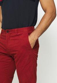 Tommy Hilfiger Tailored - FLEX SLIM FIT PANT - Pantaloni - red - 4