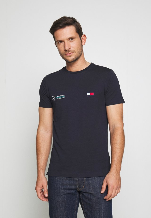 TOMMY X MERCEDES-BENZ - T-shirts basic - blue