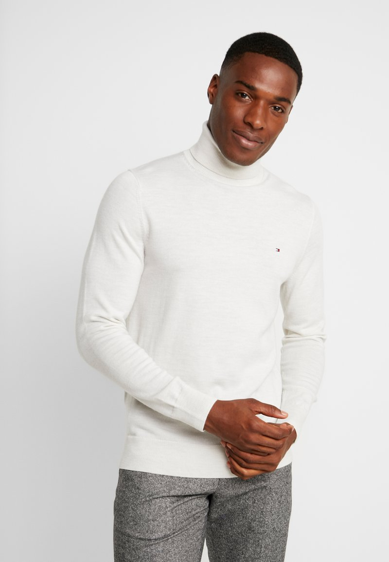 Tommy Hilfiger Tailored - LUXURY ROLL NECK - Strikkegenser - white