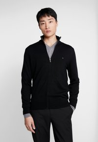 Tommy Hilfiger Tailored - LUXURY ZIP THROUGH - Kardigan - black - 0