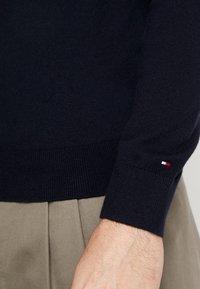 Tommy Hilfiger Tailored - ICON ZIP THROUGH - Neuletakki - blue - 5