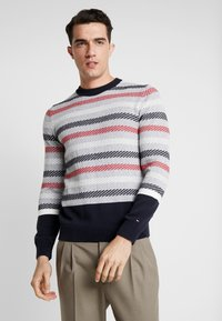 Tommy Hilfiger Tailored - CHUNKY ICON CREW NECK - Pullover - grey - 0
