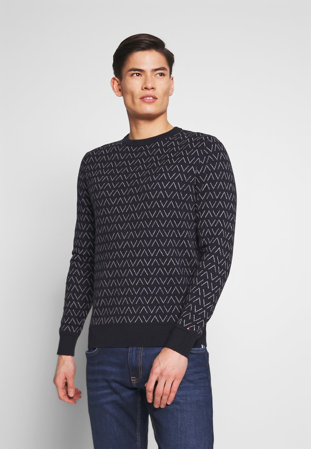 MACRO CREW NECK - Strickpullover - blue