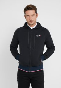 Tommy Hilfiger Tailored - TECH ZIP THRU - Sweatjacke - black - 0