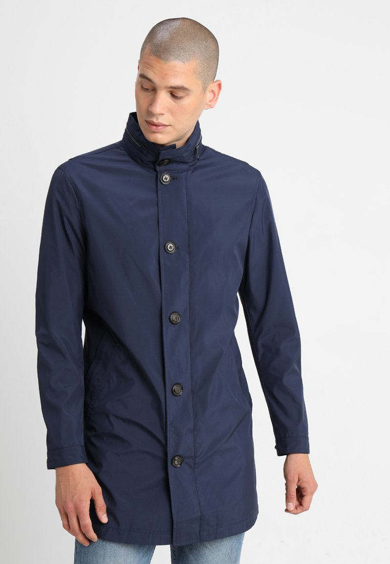 Tommy Hilfiger Tailored - STAND UP COLLAR OVERCOAT - Kurzmantel - blue