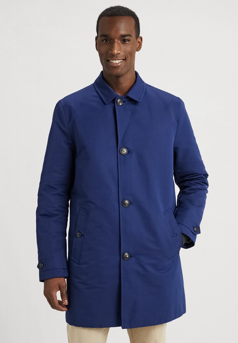 Tommy Hilfiger Tailored - PADDED CAR COAT - Short coat - blue