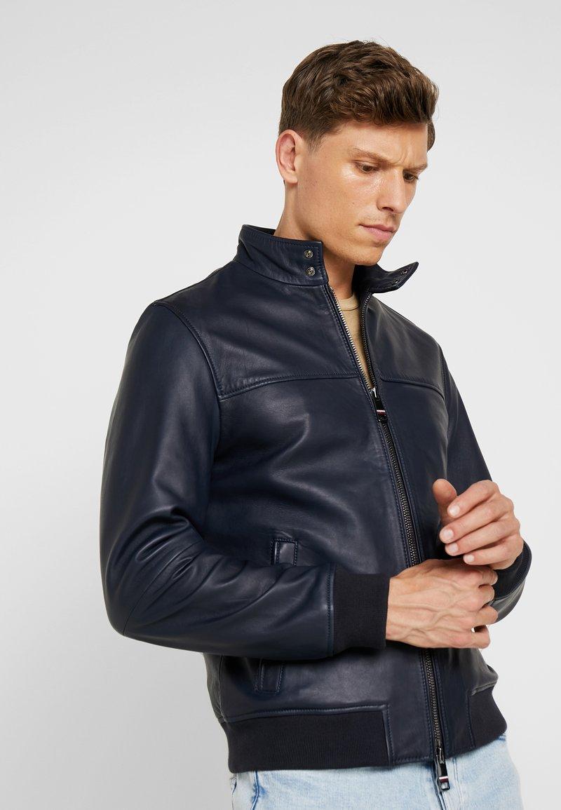 Tommy Hilfiger Tailored - HARRINGTON  - Leather jacket - blue