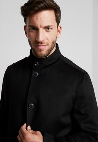 Tommy Hilfiger Tailored - STAND UP COLLAR OVERCOAT - Classic coat - black - 3