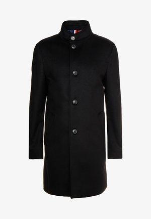 STAND UP COLLAR OVERCOAT - Mantel - black