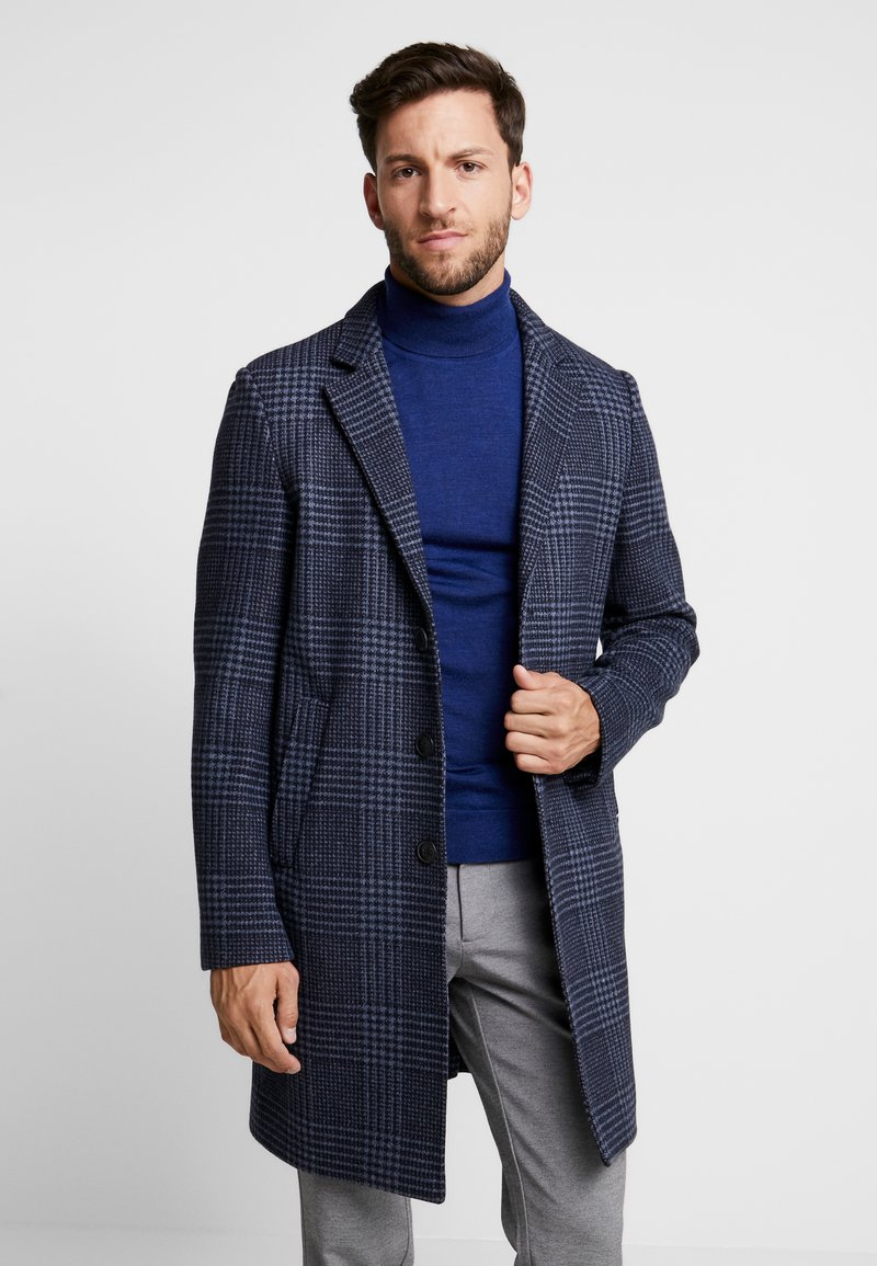 Tommy Hilfiger Tailored - UNLINED CHECK OVERCOAT - Wollmantel/klassischer Mantel - blue