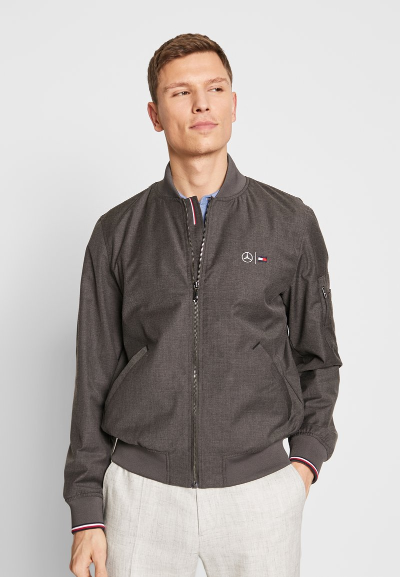 Tommy Hilfiger Tailored - TOMMY X MERCEDES-BENZ - Bomber Jacket - grey