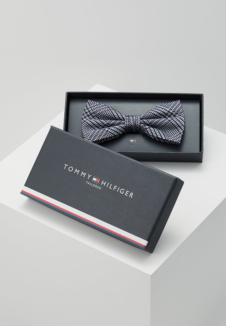 Tommy Hilfiger Tailored - CHECK BOWTIE - Butterfly - grey
