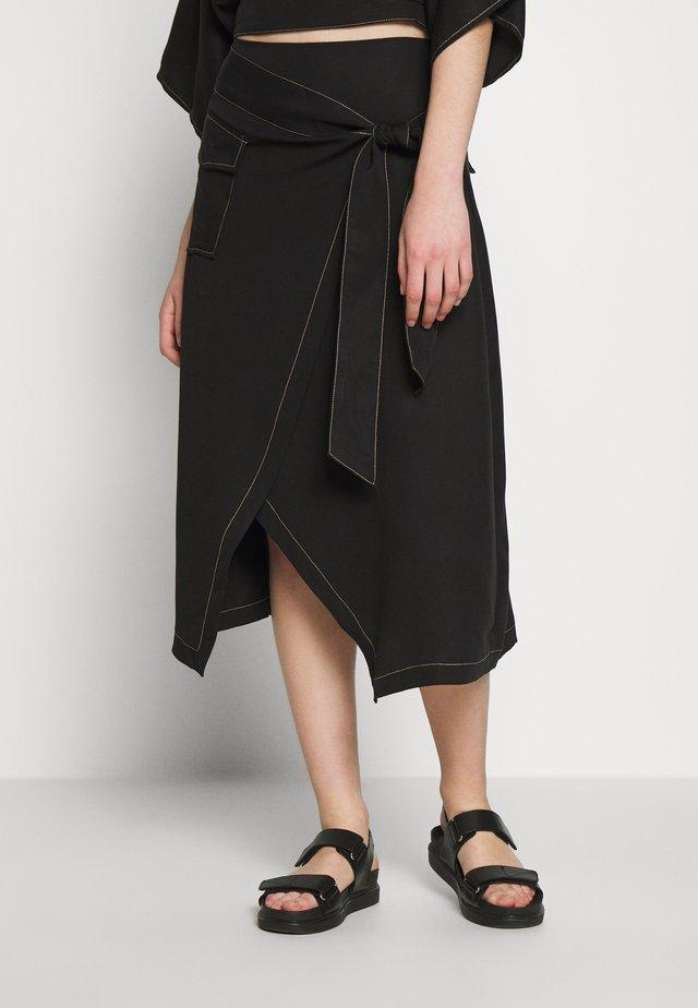 WESTERN WRAP SKIRT - A-line skirt - black