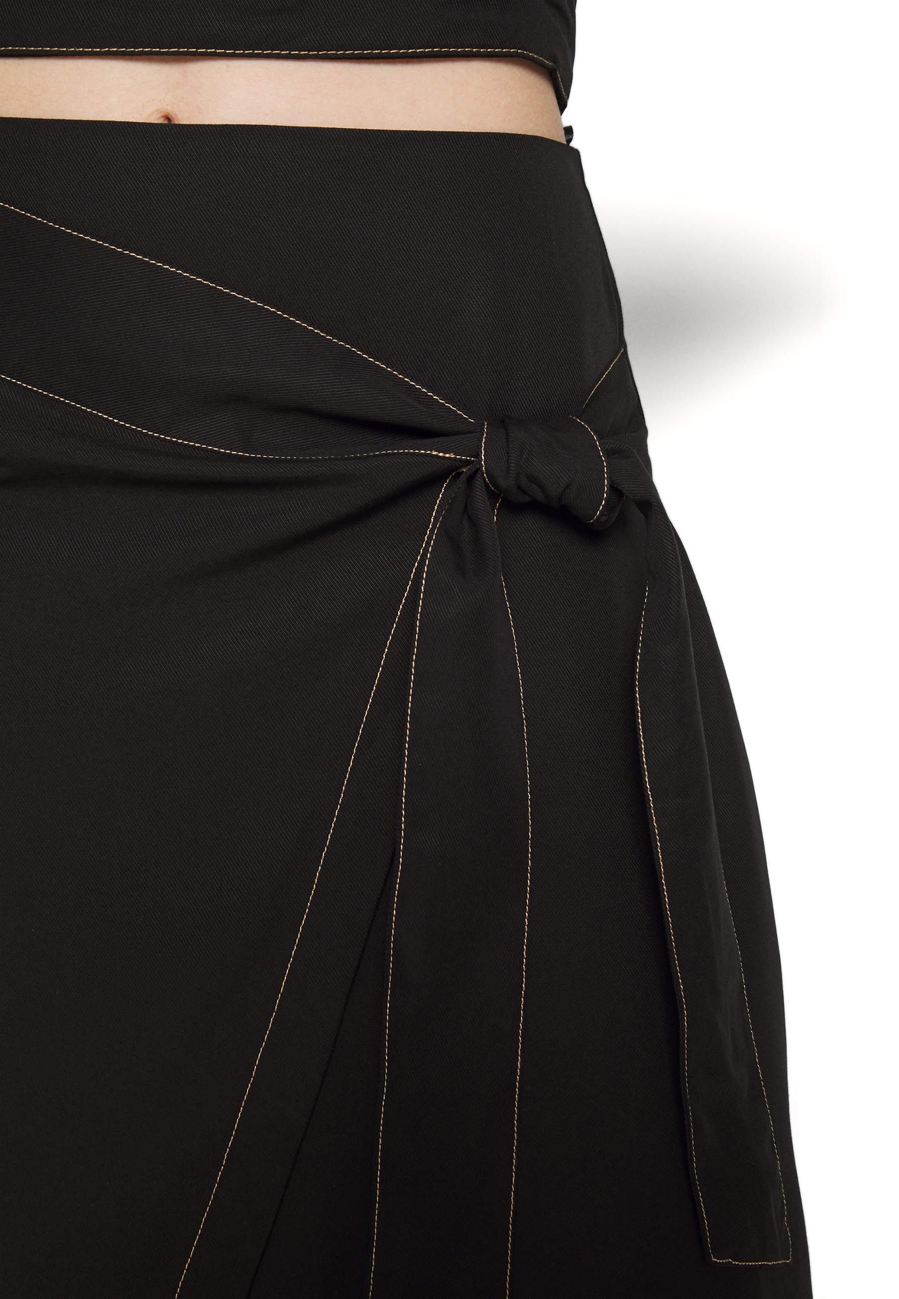 Third Form Western Wrap Skirt - A-line Black UK