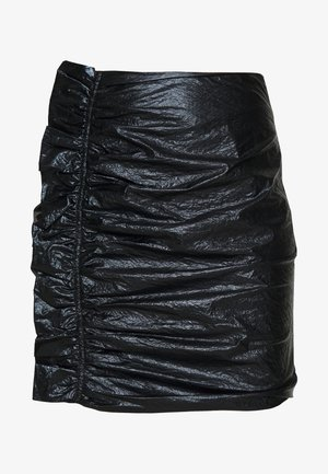 DRIFTER MINI SKIRT - Mini skirt - black gloss