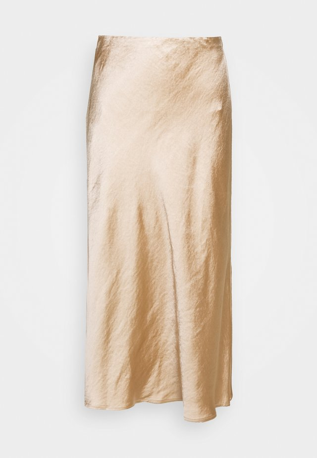 WILD FLOWERS BIAS MIDI SKIRT - A-line skirt - rose gold