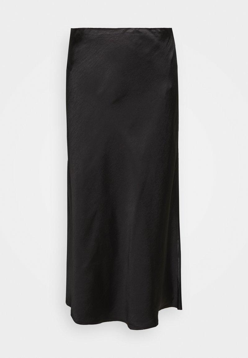 Third Form - WILD FLOWERS BIAS MIDI SKIRT - A-line skirt - black