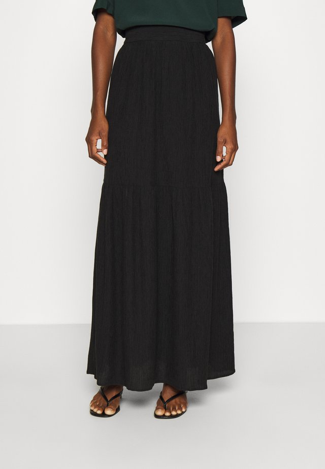 CROSSING OVER MAXI SKIRT - Jupe longue - black