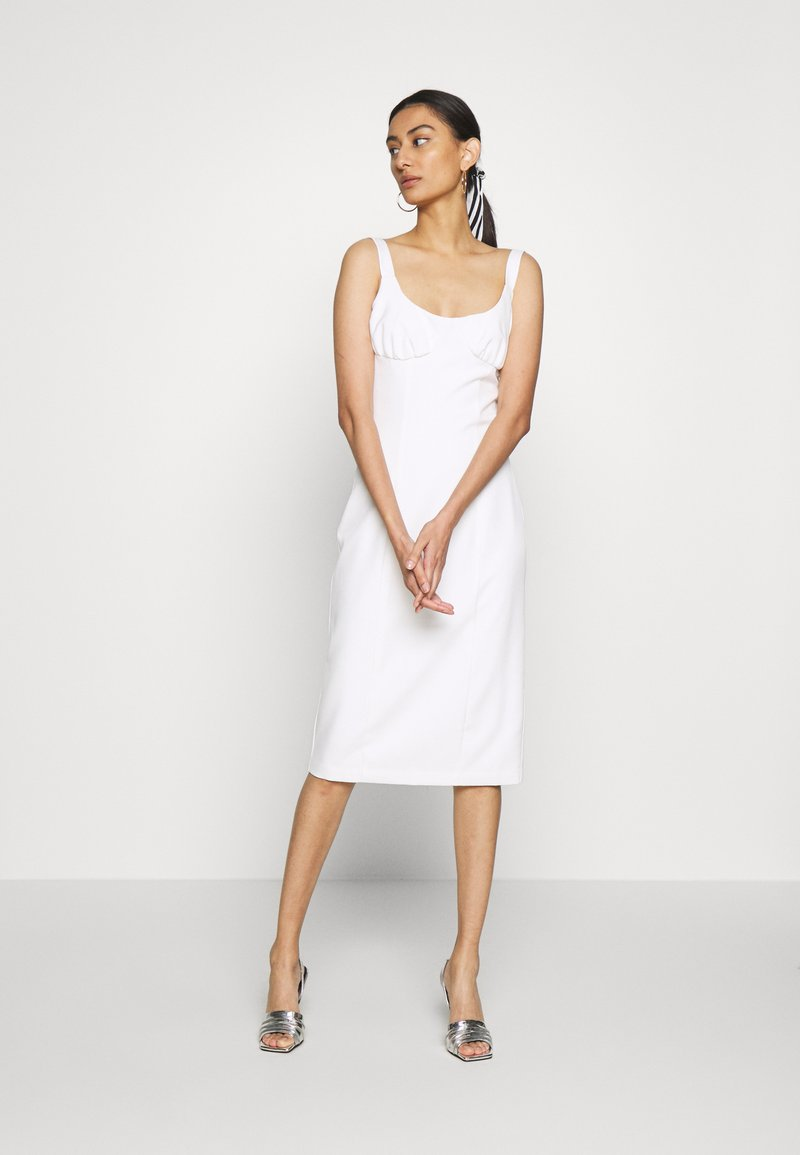 Third Form - VENTURE GATHER BRA MIDI - Day dress - offwhite