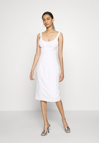Third Form - VENTURE GATHER BRA MIDI - Day dress - offwhite - 1