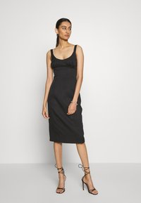 Third Form - VENTURE GATHER BRA MIDI - Day dress - black - 0