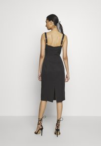 Third Form - VENTURE GATHER BRA MIDI - Day dress - black - 2