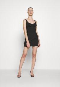 Third Form - VENTURE GATHER BRA MINI - Day dress - black - 1
