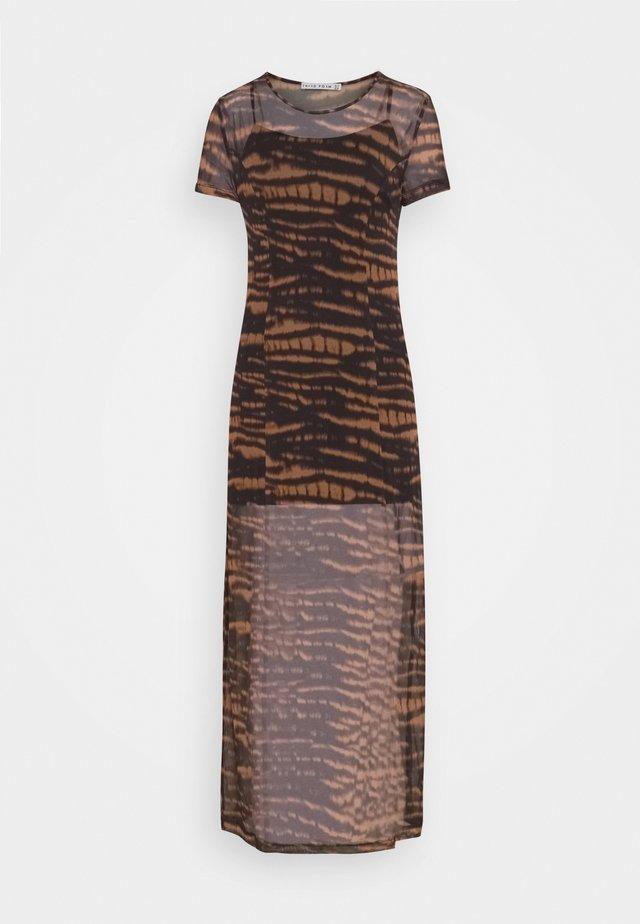 TIEGER MAXI DRESS - Denní šaty - black