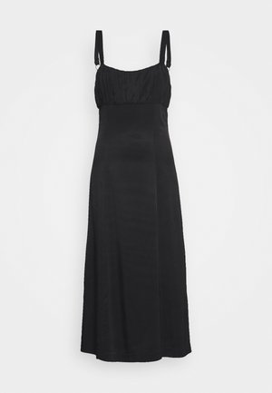 ROMANCER GATHER BRA MIDI - Day dress - black