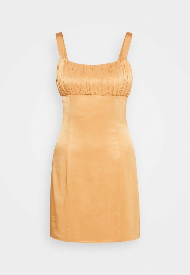 ROMANCER GATHER BRA MINI - Day dress - honey