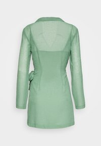 Third Form - CRUSH WRAP COLLAR DRESS - Shift dress - sage - 1