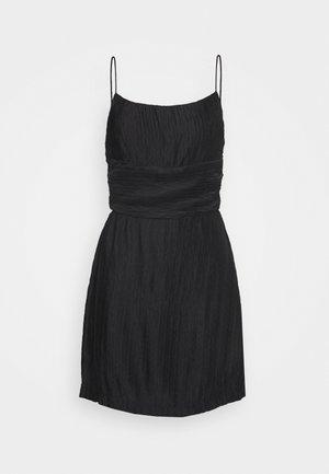 RIPPLE PLEAT MINI DRESS - Day dress - black