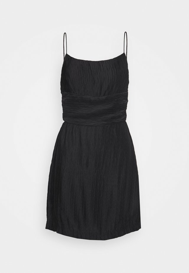 RIPPLE PLEAT MINI DRESS - Day dress - black