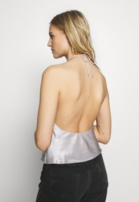 Third Form - ORBIT HALTER - Blouse - silver - 2