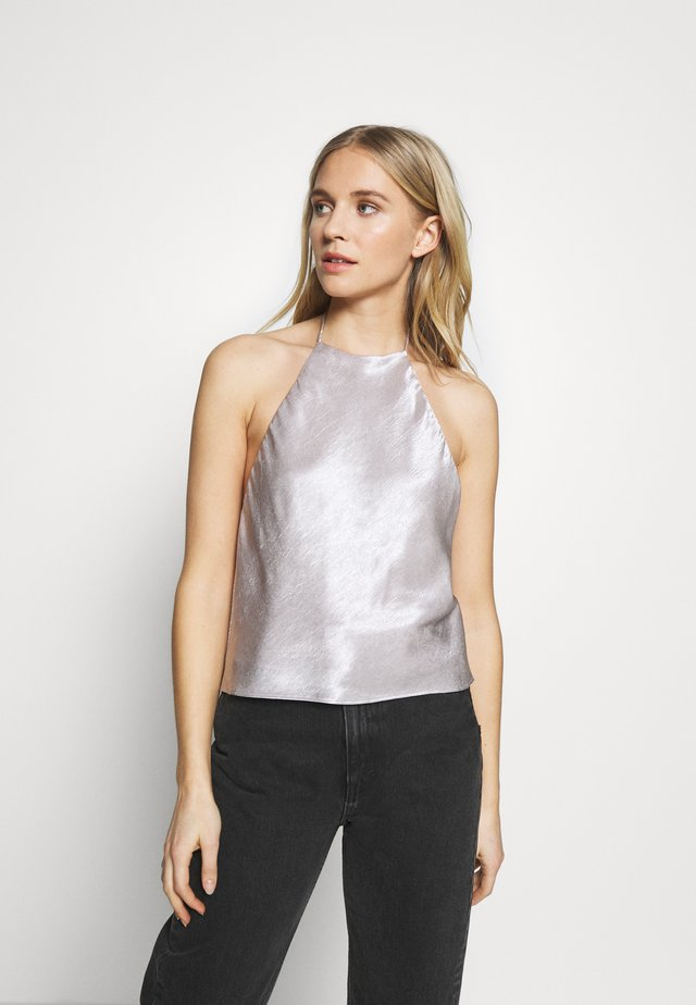 ORBIT HALTER - Blouse - silver