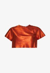 Third Form - ORBIT BIAS CROP TEE - Blouse - copper - 4