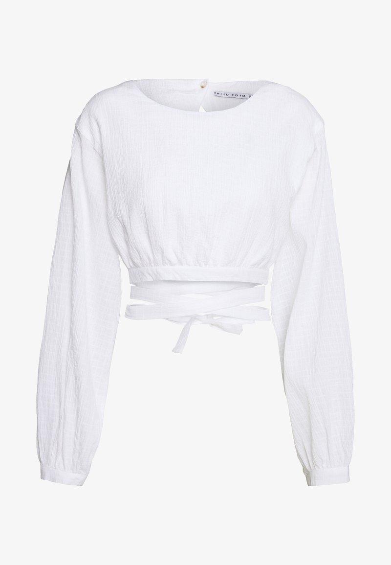 Third Form - CLOUD WRAP UP BLOUSE - Blouse - white