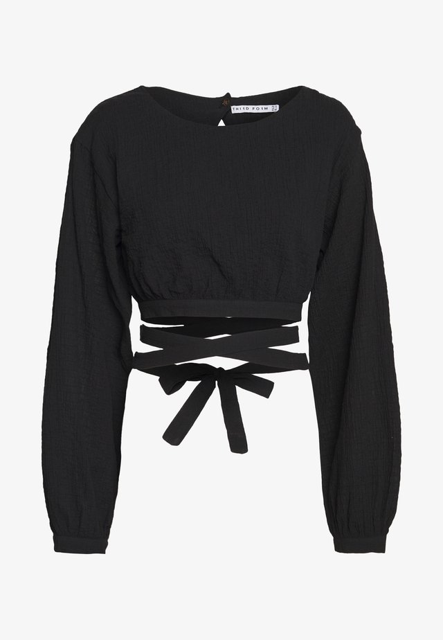 CLOUD WRAP UP BLOUSE - Blouse - black