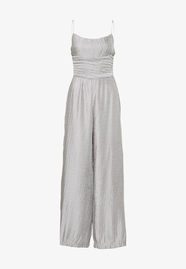 RIPPLE PLEAT - Jumpsuit - silver