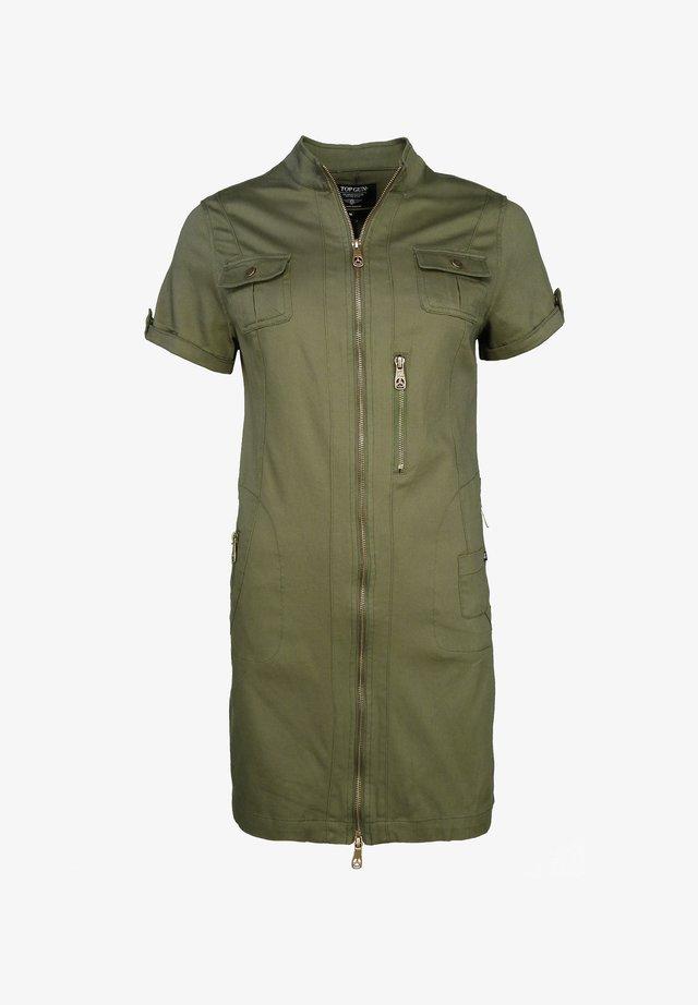 Sukienka koszulowa - olive