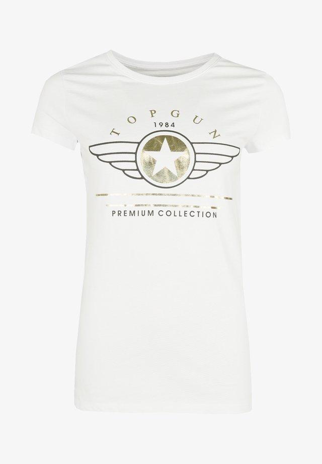 MIT AUFSCHRIFT  - T-shirt print - white