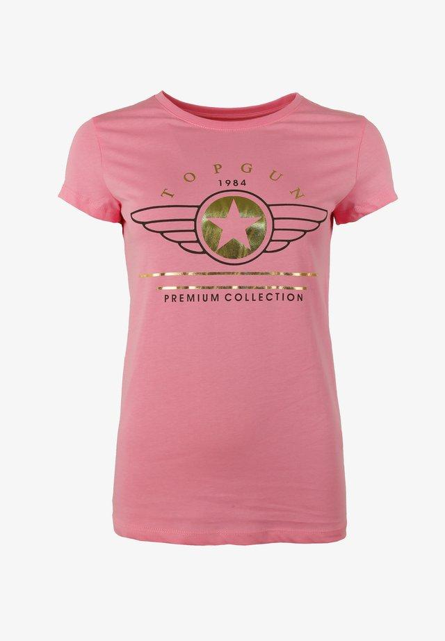 MIT AUFSCHRIFT  - T-shirt print - rose