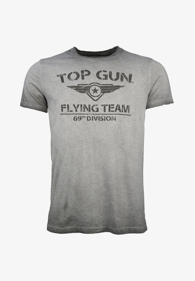 MIT TOP GUN LOGO EASE - T-shirt print - grey