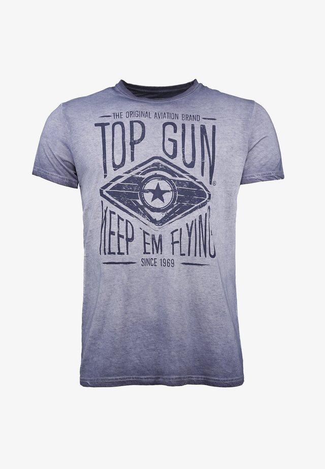 GROWL - T-shirt print - navy