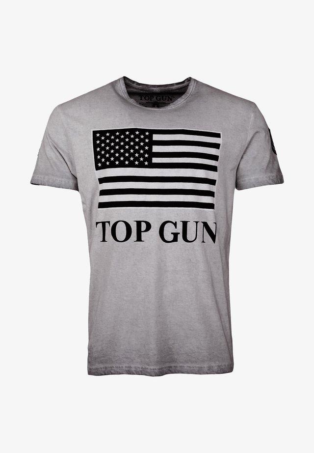 MIT US-FLAGGE SEARCH - T-shirt print - grey
