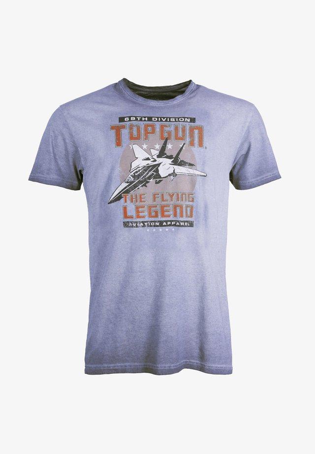 MIT AUFDRUCK - T-shirt print - navy