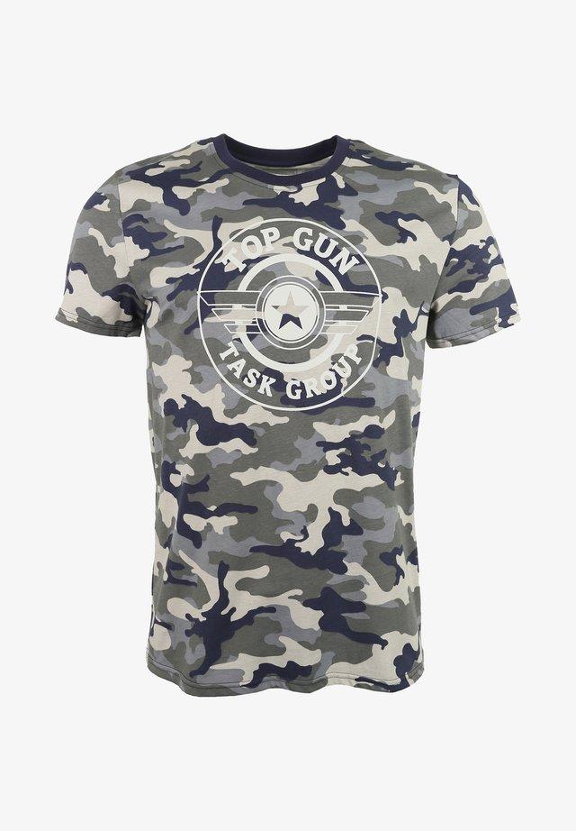 MIT TOP GUN LOGO - Print T-shirt - navy