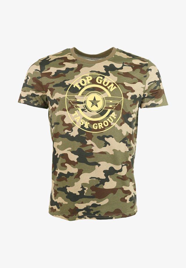 MIT TOP GUN LOGO - Print T-shirt - olive