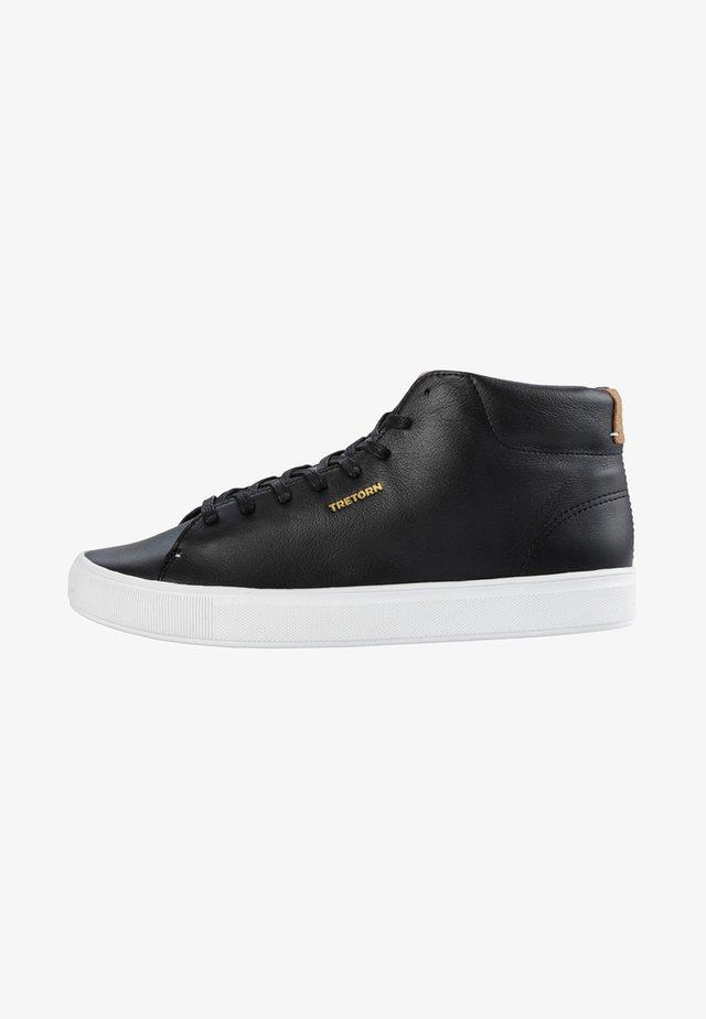 TOURNAMENT LEATHER HI WP - Höga sneakers - black